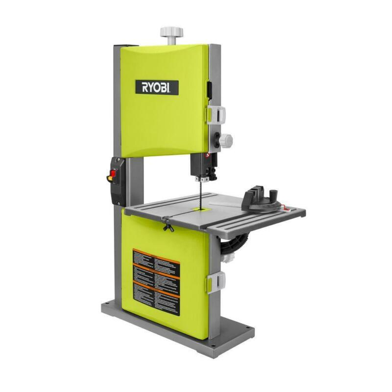 RYOBI 2.5 Amp 9 in. Band Saw Bench Top Dust Collect Port Woo