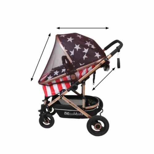 Stroller Mosquito Net, Universal Baby Stroller Mosquito Cover Drawstring BROWN