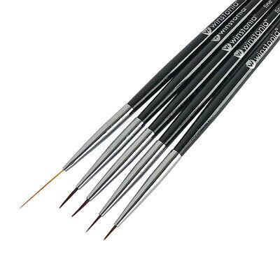 Winstonia Nail Art Liner Detailer Striping Brush FINE LINE Best Manicure Pen (Best Black Brush Pen)