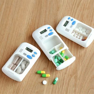 Pill Storage Electric Clock Reminder With Alarm Timer Medicine Case Pill Box