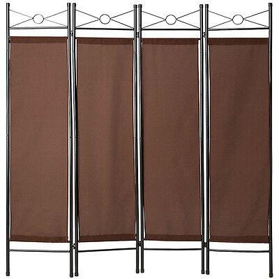 4tlg Raumteiler Trennwand Paravent Umkleide Sichtschutz Spanische Wand Metall