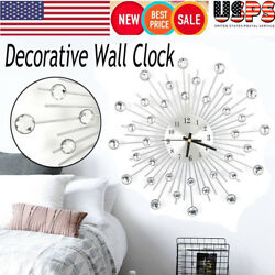 Luxury Wall Clock Decorative Art Big Watch Modern Bead Design Home Quartz Decor