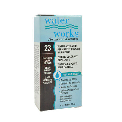 (Water Works Permanent Powder Hair Color #23 - Natural Dark Borwn 0.21oz)