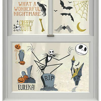 Before Halloween Party (NIGHTMARE BEFORE CHRISTMAS WINDOW CLINGS Halloween Party Decoration)