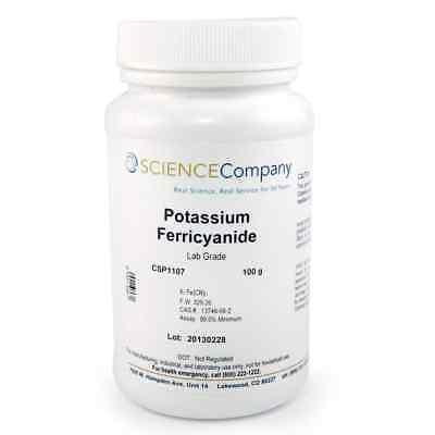 Nc-0738 Potassium Ferricyanide 100g Cyanotype Photo Chemical Crystal Growing