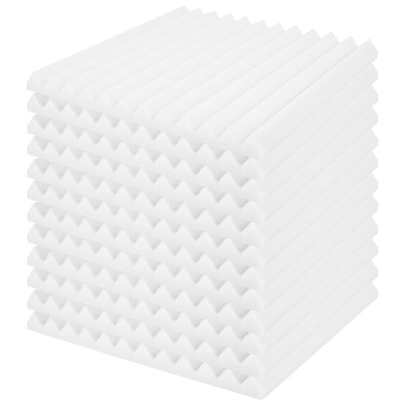 """1""""X 12""""X 12"""" Pyramid Acoustic Foam Studios Sound Absorption Wall Panels 12 Pack"""
