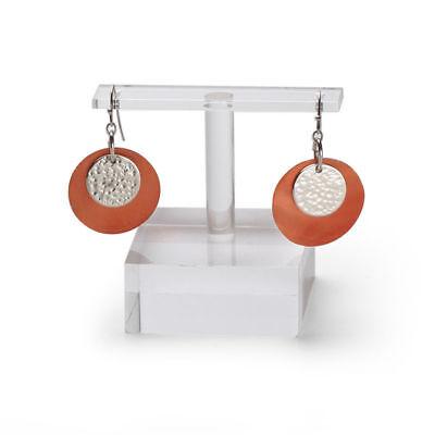 12 Acrylic Earring Displays 2  X X 2 T-bar Showcase Pierced Retail