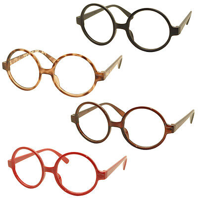 4 x Vintage Classic Geek Nerd Style Glasses Frame NO LENS Cute Costume - Cute Nerd Costumes