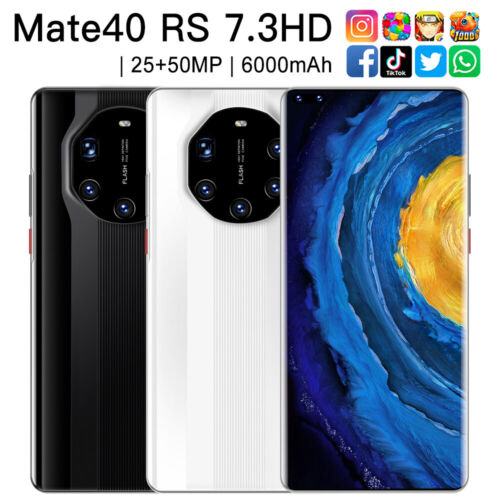 """Android Phone - 7.3"""" Large Screen Quad Core 2 SIM Android Unlocked Smartphone Mobile Phone 3G AU"""