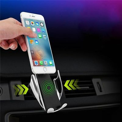 Best Automatic Clamping Wireless Car Charger Air Vent Mount Holder iOS