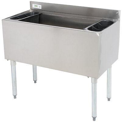 18 X 36 Underbar Stainless Steel Restaurant Bar Ice Bin - 119 Lb. Ice Capacity
