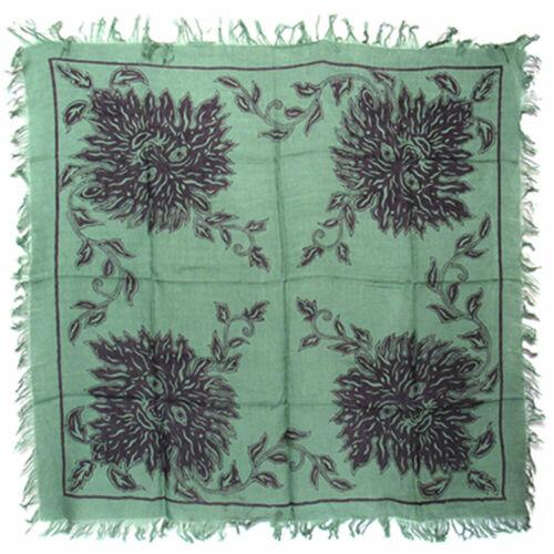"Green Man Altar Cloth 36"" NEW Four Corners Greenman Square Rayon Fringed"