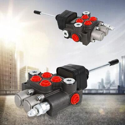 2 Spool Hydraulic Directional Control Valve Adjustable Relief Valve 3600psi New