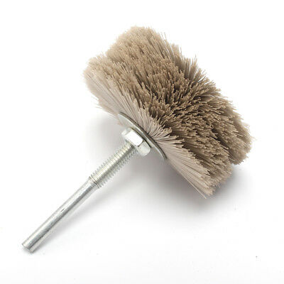 2pcs 80mm Nylon Abrasive Wheel Brush Polishing Grinder For Wood Stone Grit 400