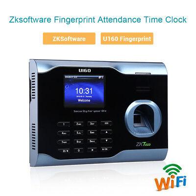 U160 Biometric Fingerprint Time Attendence Time Clock Payroll Recorder Lcd Tft