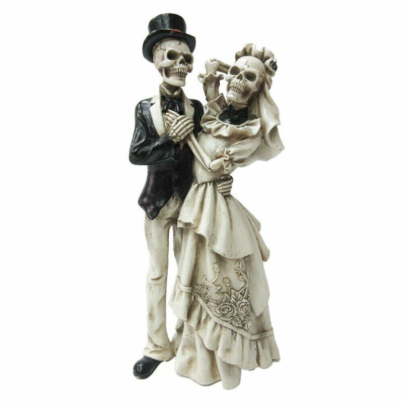 Love Never Dies Skeleton Wedding Couple