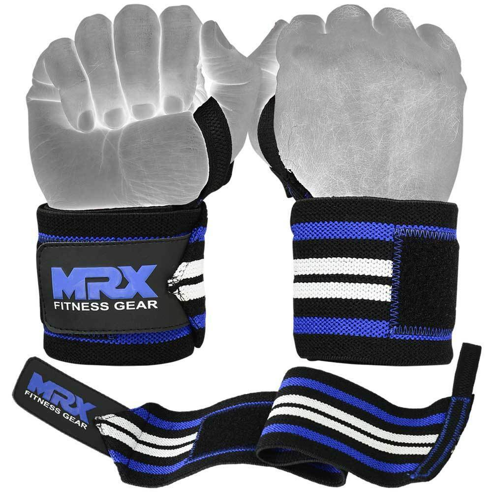 Dam Weight Lifting Gym Gloves Body Building Workout White: Weight Lifting Wrist Wraps Gym Training Support Workout