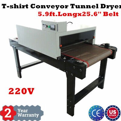 Us T-shirt Conveyor Tunnel Dryer 5.9ft Long X 25.6 Belt For Screen Printing