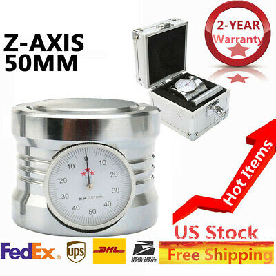 Magnetic Z Axis Zero Pre Setter Dial Set For Cnc Router 50mm0.01mm Gage Offset