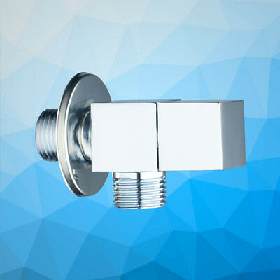 Bathroom Chrome Stainless Steel Thread Angle Stop Valve Water Filling Wall - Wall Angle Stop