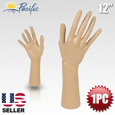 """Mannequin Hand Display Jewelry Bracelet Necklace ring glove Stand holder 12"""""""