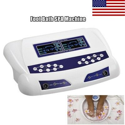 Pro Dual User Ionic Detox Foot Bath Spa Machine Tools Cell Cleanse LCD Display