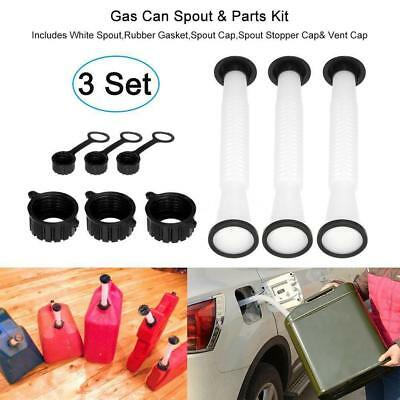 3sets Gas Can Spout Part Kits Blitz Rubbermaid Gott Koplin Eagle Rotopax Jerry