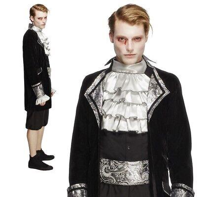 Erwachsene Deluxe Barock Vampir Kostüm Herren Halloween Kostüm Dracula Neu ()