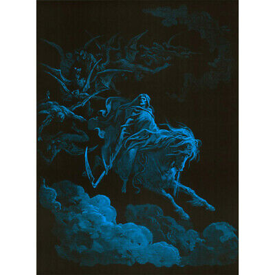 Death Rides a Pale Horse Blacklight Poster - 24