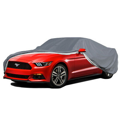 5-Layer Car Cover Indoor Outdoor Waterproof Layers Fleece Lining Weather Seal