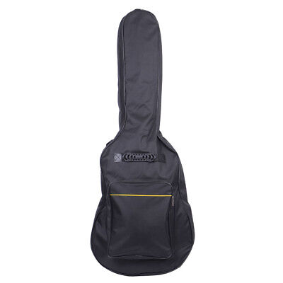 41 Inch Padded Acoustic Guitar Bag Black Heavy Nylon Padded Cotton
