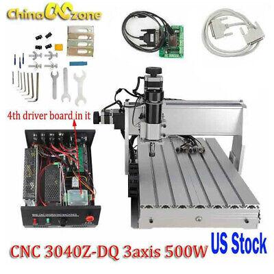 Cnc 3040z-dq 3axis Router 500w Engraving Machine Mach3 Usb Cutting Diy Machine