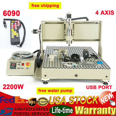 4axis Cnc6090 Router Engraver 2200w Vfd Engraving Milling Machine Usb Port Usus