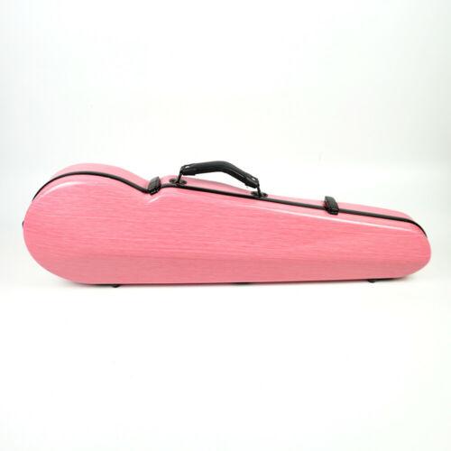 Liyin Hard Violin Case 4/4 Violin Case Carbon Fiber Composite Strong/Light Pink