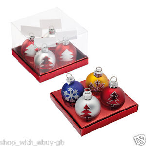 4 bauble name card holders christmas party table for Place settings name card holders