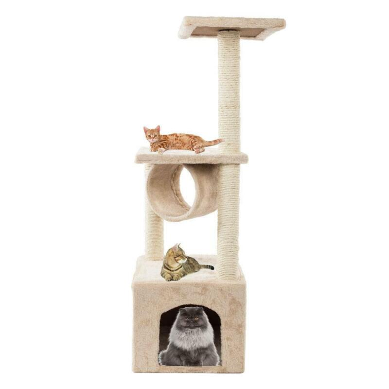 "36"" Cat Tree Condo Furniture Play Scratch Post Kitten Pet House Kitty + Toy"