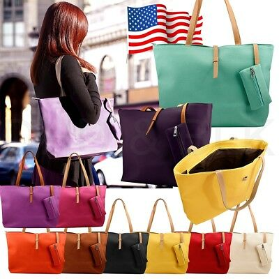 Large Faux Leather Handbag Purse (New Womens Faux Leather Fashion Messenger Handbag Lady Shoulder Bag Totes Purse )