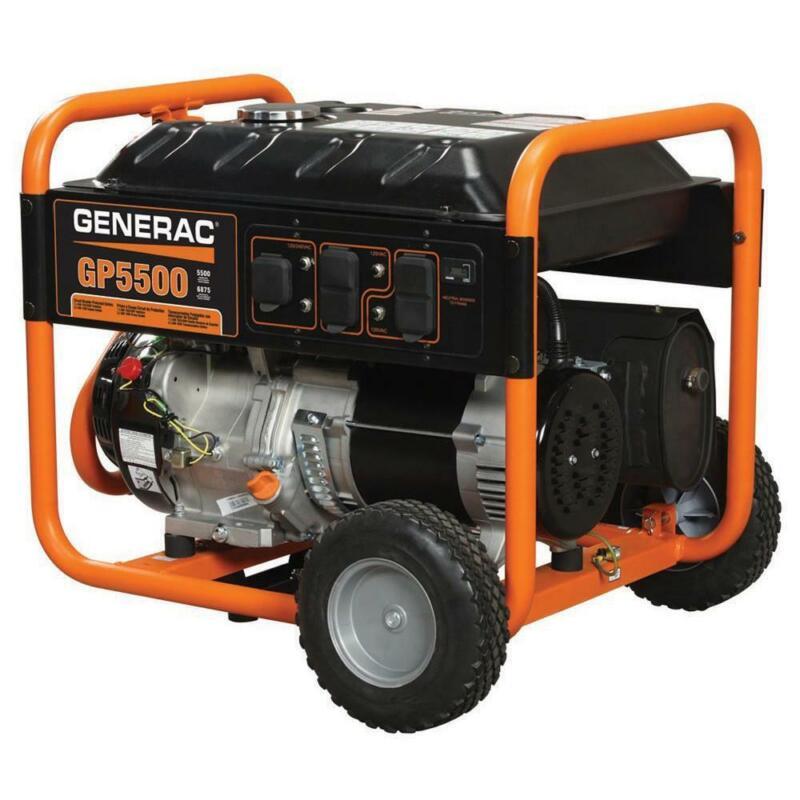 Generac 5939 GP5500 5,500 Watt Recoil Start Gas Powered Portable Power Generator