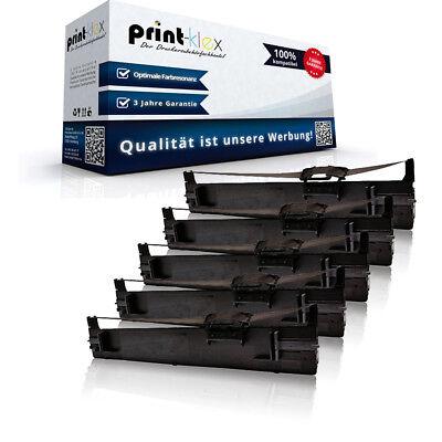 5x Kompatible Farbbänder für Epson LQ 590 Nylonband Patronen - Drucker Pro Serie - Epson Farbband Kassette