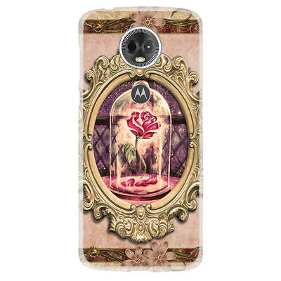 For Moto E5 Play/Cruise/Plus/Supra Case Cover Beauty And The Beast Rose Mirror ()