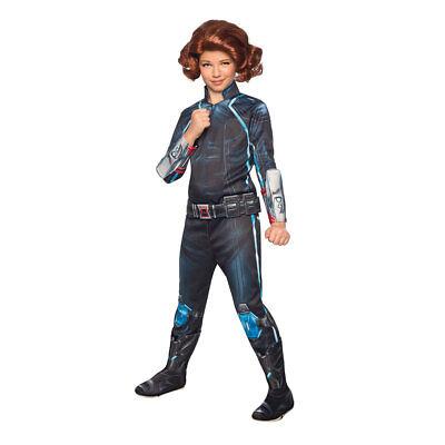 Girls Avengers Deluxe Black Widow Costume Large 12-14 - Black Widow Girl Costume