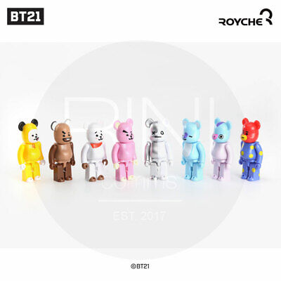 BTS BT21 OfficiaI Authentic Goods BEARBRICK Figure 10SET + Tracking Num