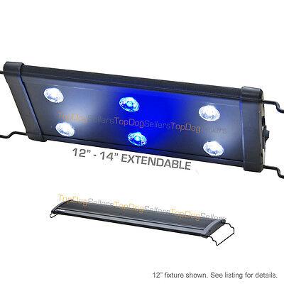 """EVO 12"""" LED Aquarium Light Nano Marine Coral Reef Cichlid 6x 3W 3 Watt 30 cm"""