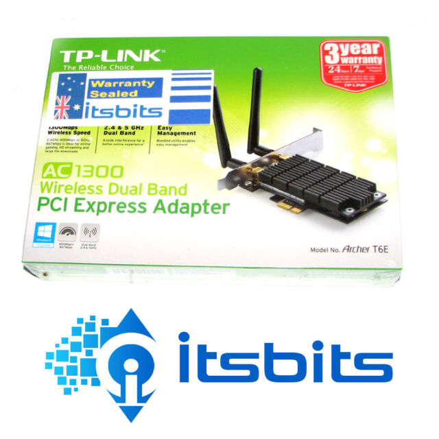 TP-LINK ARCHER T6E AC1300 WIRELESS PCI-E DUAL BAND ADAPTOR AC1300 5GHz & 2.4GHz