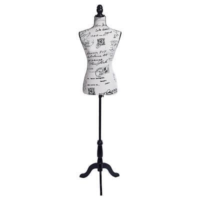 Female Mannequin Torso Dress Clothing Form Display Wblack Stand Letter Style