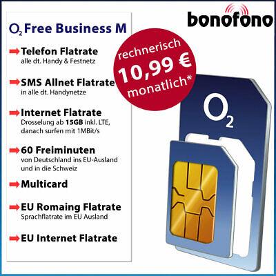 AKTION! 10,99 €* mtl - o2 Free Business M - Allnet Flatrate |Internet Flat 15GB online kaufen