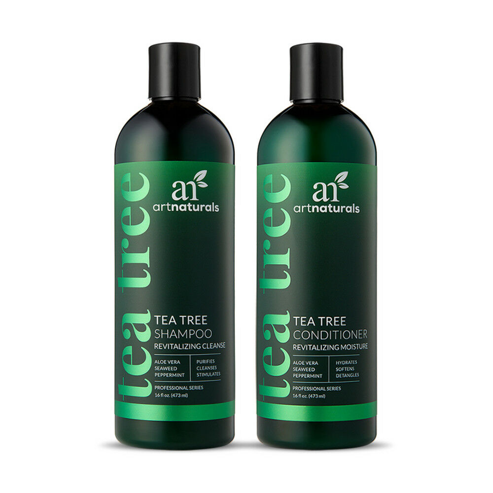Natural Tea Tree Shampoo & Conditioner Duo  Softens w/ Aloe