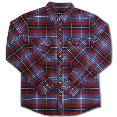 Blau Plaid L/s Shirt (Brixton Bowery Flannel L/S Shirt Blau Plaid)