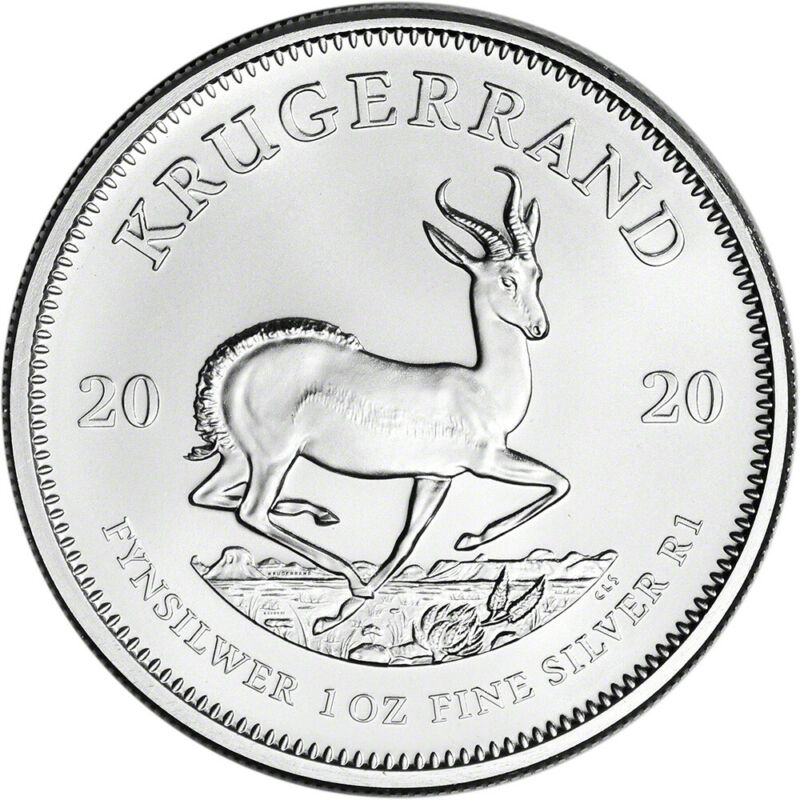 2020 South Africa Silver Krugerrand 1 oz 1 Rand - BU