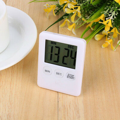 Digital Lcd Large Kitchen Time Counter Cooking Alarm Run Magnet Timer Bbc